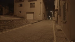 Night Lit Alley in FREJUS, FRANCE Stock Footage
