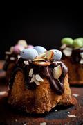 Easter bundt cake - stock photo