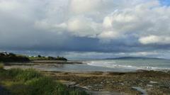 New Zealand Catlins Kaka Point tide pools in rugged shelf Stock Footage