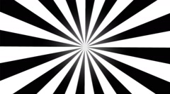 Rotating Stripes Background Animation - Loop Black and White Stock Footage