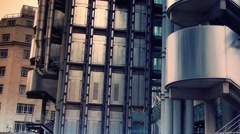 Time lapse shot of Lloyds building in London, England Stock Footage