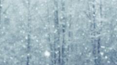 Mega massive extra big global defocus snowfall loop - stock footage