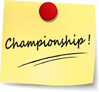 championship note - stock illustration