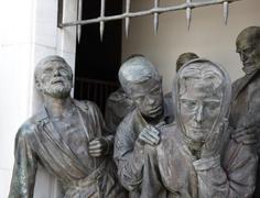 Liberty monument statues, Nicosia Cyprus - stock photo