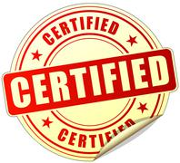 Certified label Stock Illustration