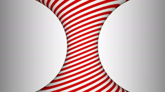 Red and white concave rotating cylinder with hypnotic effects Stock Footage