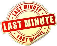 last minute label - stock illustration