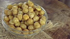 Preserved Chick Peas (seamless loopable) Stock Footage