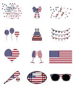 Stock Illustration of American celebration and symbols