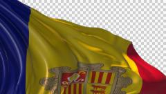 Stock Video Footage of Flag of Andorra
