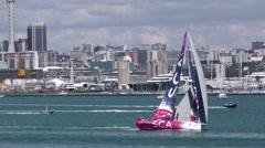 Stock Video Footage of Volvo 2015 Ocean Race Auckland New Zealand