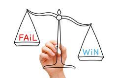 Win Fail Scale Concept - stock photo