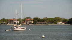 Stock Video Footage of Yachts near St Augustine Florida
