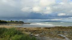 New Zealand Catlins Kaka Point rugged tidepool shelf at low tide - stock footage