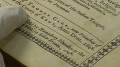 Antique book anthropology Stock Footage