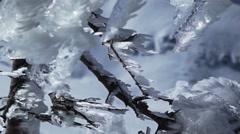 Ice peaks - stock footage