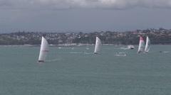 Volvo 2015 Ocean Race Auckland New Zealand Stock Footage