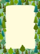 Conifers pattern. Background of trees. Earth day Template with space for text Stock Illustration