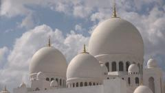 Abu Dhabi, Sheikh Zayed Grand Mosque, time lapse - stock footage