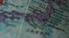 Japan - Globe Map Element for Documentary, News and Travel Stock Footage
