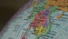 South East Asia - Globe Map Element for Documentary, News and Travel - stock footage