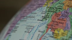 Spinning Globe of Southeast Asia Map Element for Documentary, News and Travel Stock Footage