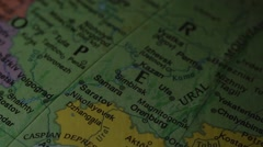Russia and Ukraine - Globe Map Element for Documentary, News and Travel Stock Footage