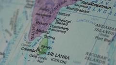 Sri Lanka, India, Bangladesh - Globe Map Element for Documentary Stock Footage