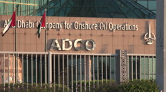 Abu Dhabi, oil company, office tower, onshore operations Stock Footage