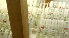 B medical vegetables laboratory test Stock Footage