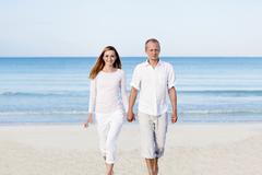 verliebtes junges paar im sommer am strand - stock photo