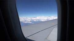 View from the window of a Qatar Airways flight Stock Footage