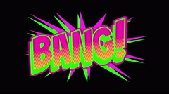 BANG Comic expresion with matte Stock Footage