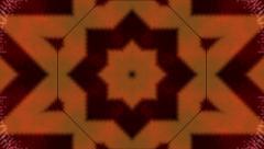 Striped kaleidoscope on black Stock Footage