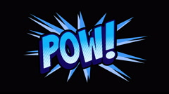 POW Comic expresion with matte Stock Footage