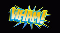 WHAM Comic expresion with matte Stock Footage