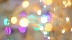 Blured lights. Christmas and New Year Decoration. party decor. blurred bokeh Stock Footage