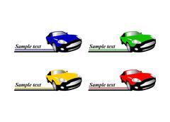 Car racing auto logo Piirros
