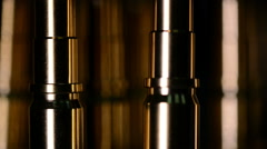 Excellent golden background to show luxury, cnc ready details with reflection Stock Footage