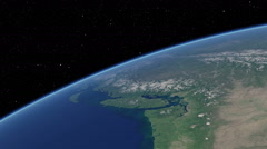 Orbital flyover of the upper North American Pacific coast (cloudless) Stock Footage