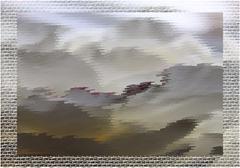 Abstract fantastic grey landscape Stock Illustration
