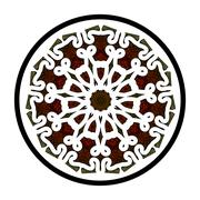 Openwork lace pattern seamless red Stock Illustration