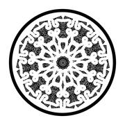 Openwork lace pattern seamless red - stock illustration