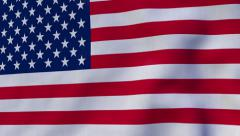FullHD 60 FPS seamless loop with waving flag of the United States of America Stock Footage
