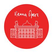 Vienna Opera house building vector - stock illustration