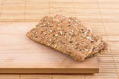 Crispbread with seeds. - stock photo