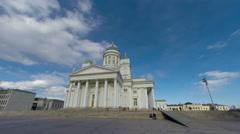 Finland Helsinki church time lapse 4kUHD Stock Footage
