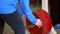 Preparation of a shell to sporting events - stock footage