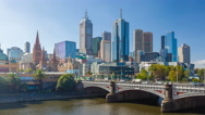 Stock Video Footage of 4k hyperlapse video of downtown Melbourne, Australia
