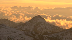 Trevenque mountain in timelapse - stock footage